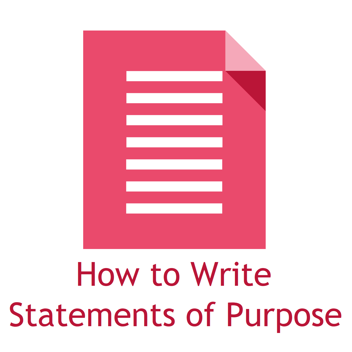 Writing Statements Of Purpose And Other Application Essays