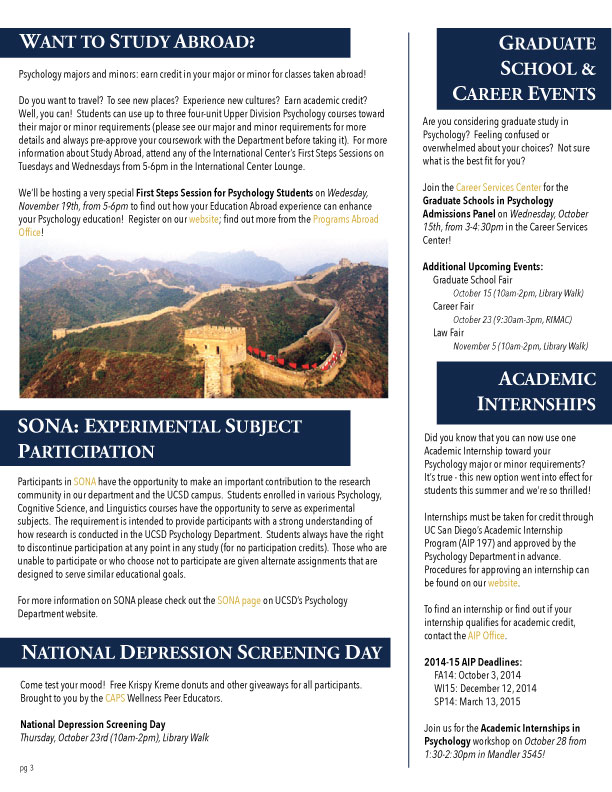 UCSD Psychology News FA14