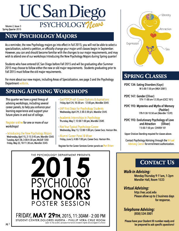 UCSD Psychology News SP15