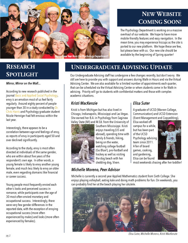 UCSD Psychology News FA15
