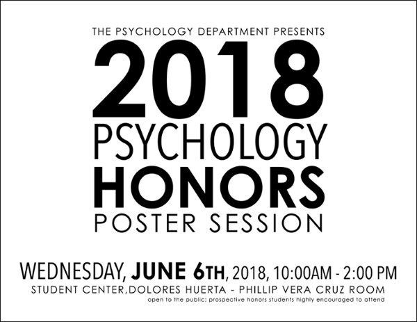 Psychology Honors Poster Session 2018