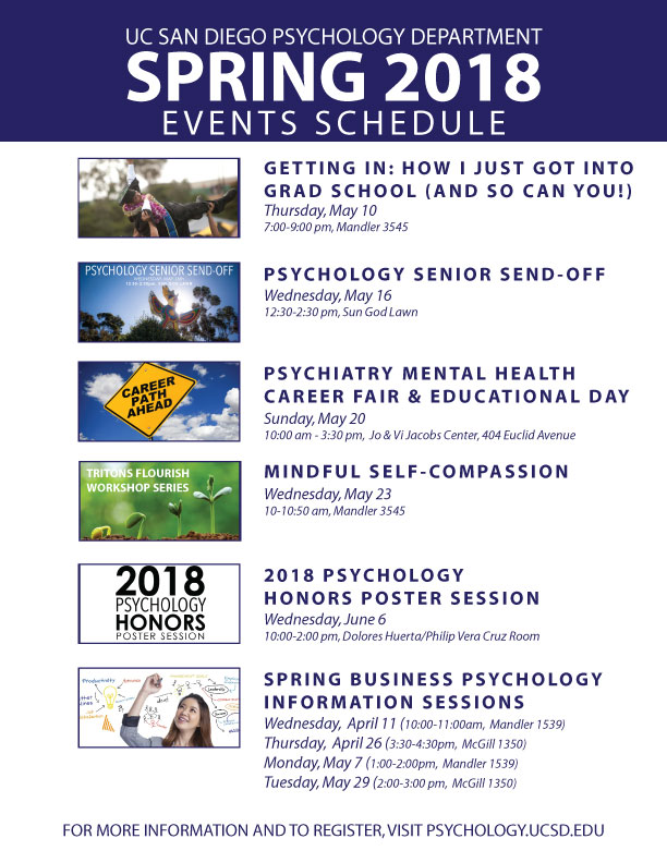 UC San Diego Psychology Events Spring 2018