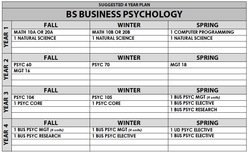 Business Psychology B S  2018